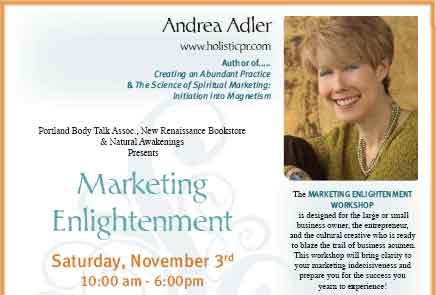 Portland, OR book signing Andrea Adler